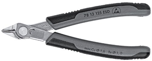 KNIPEX 78 13 125 ESD Electronic Super-Knips Comfort Grip