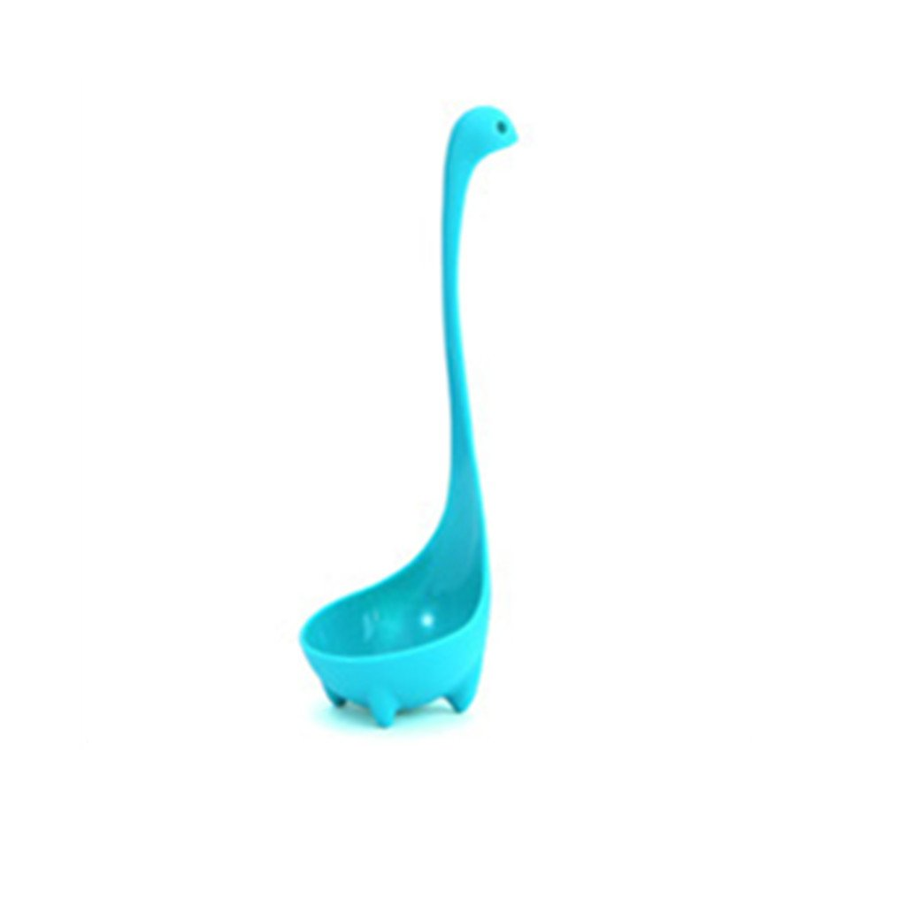 Adorable Dinosaur Soup Ladle Loch Ness Monster Design Utensil Spoon - Blue, One Size