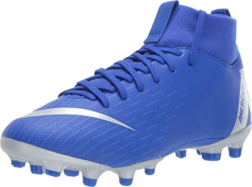 wholesale dealer af1a4 772ed Nike JR Mercurial Superfly 6 Academy GS MG Soccer Cleat (Racer Blue) (3.5Y)