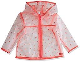 Gymboree Baby Toddler Girls\' Dot Rain Jacket, Neon Coral, 6-12 Months