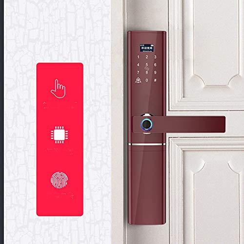 BLWX - Intelligent Door Lock - Zinc Alloy - Wear-Resistant + Heat-Resistant Cold - Fingerprint Lock Home Security Door Smart Lock Electronic Lock Password Lock Door Lock Home Door Lock - Size: 37.8 X by BLWX-home renovation. Door lock (Image #5)