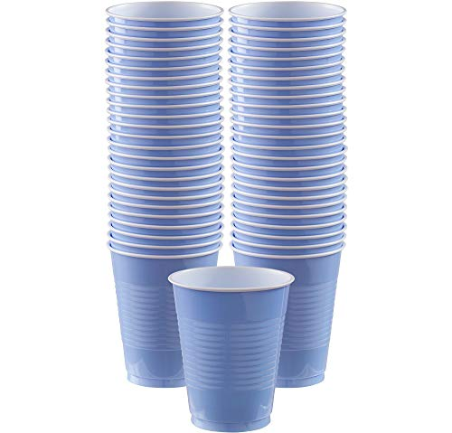 Amscan Pastel Blue Plastic Cup Big Party Pack, 16 Oz., 50 Ct.