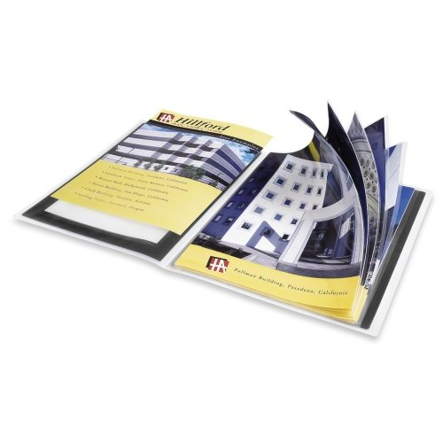 Wholesale CASE of 25 - Avery Flexi-View Presentation Books-Presentation Books, 24 Pages, 8-1/2''x11'', Black by AVE