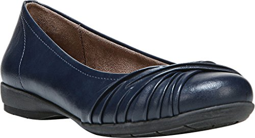 NATURAL SOUL Women's Girly Ballet Flat Blue outlet looking for omawABA