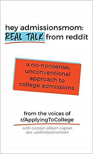 Hey AdmissionsMom: Real Talk from Reddit: Carolyn Allison