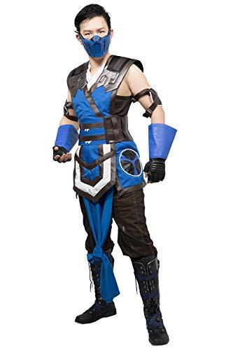 Adults Sub-Zero Costume MK 11 Halloween Cosplay Suit ()