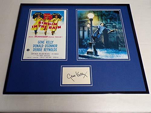Gene Kelly Signed Framed 16x20 Singin in the Rain Photo Poster Set