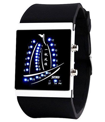 Gosasa Unisex Reloj Yacht diseño reloj Digital LED 30 m resistente al agua Digital Watch (