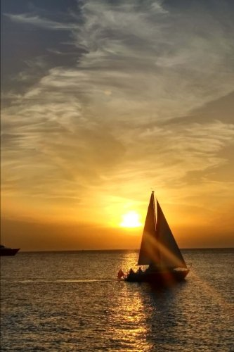 Sailboat at Sunset Journal: 150 page lined notebook/diary