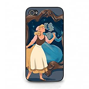 Iphone 4/4s Phone Case Inebriety Phone Shell Cover Cinderella Quotes Fashion Style Cover for Iphone 4/4s Disney Cartoon Cinderella