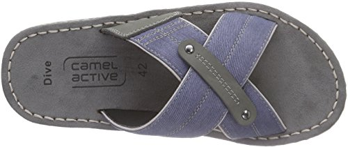 camel active Dive 11 - Sandalias Hombre Azul - Blau (jeans/grey)