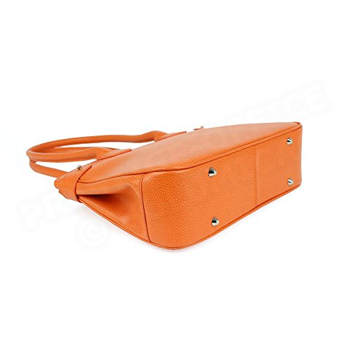 Sac Cabas Shopping Paris cuir Orange Beaubourg