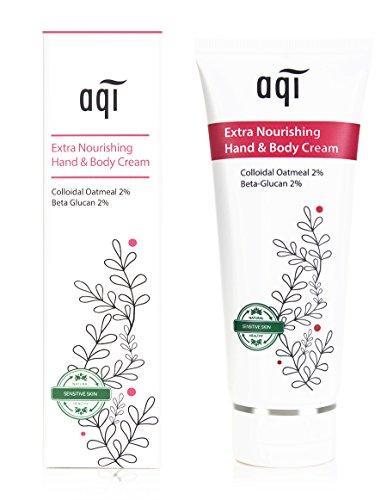 AQI Extra Nourishing Hand & Body Cream - lotion / Ultra Hydrating, Moisturising, Natural Body Lotion for Men & Women / All Day Moisture for Sensitive, Allergy Prone and Fragile skin - 3.4 fl oz /100ml (Lotion Allergy)