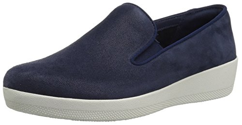 FitFlop Women's Superskate Loafer Flat, Midnight Navy, 8 M - Midnight Blue Shoes