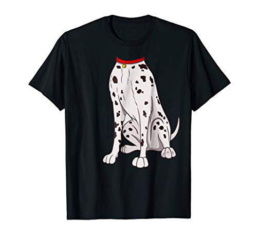 Dalmatian Costume T-Shirt for Halloween Dog Animal Cosplay ()