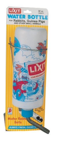 Lixit Rabbit Weather Resitant Water Bottle with Deluxe Tube and Stopper, 32 oz