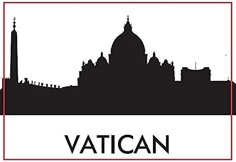 La Romana del Vaticano recuerdos de la religión católica la silueta del Vaticano magnético Frigorífico: Amazon.es: Hogar