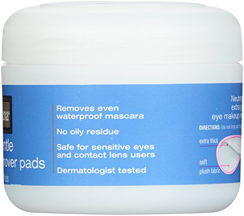 Neutrogena Extra Gentle Eye Makeup Remover Pads, Sensitive Skin 30 Count (Pack of 2)