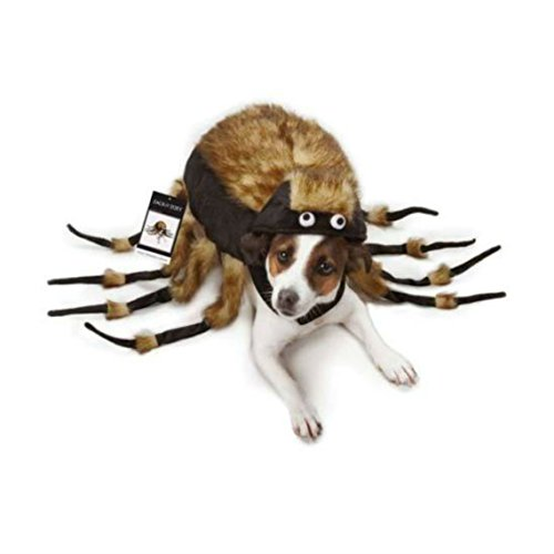[Tarantula Fuzzy Spider Dog Halloween Costume, USA Seller, All Sizes Party Costumes (Large)] (Large Dog Spider Halloween Costume)