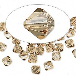 Swarovski Crystal 5328 6mm XILION Light Colorado Topaz Crystal Bicones - 24 Pack (5328 Light)