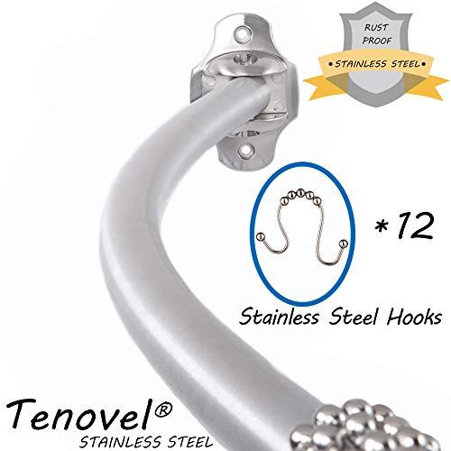 TENOVEL 2-Piece Bathroom Shower Sets: Stainless Steel 42