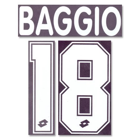 Baggio 18 1995 AC Mailand Home Flock Name und Nummer Retake Classic Kit Printing