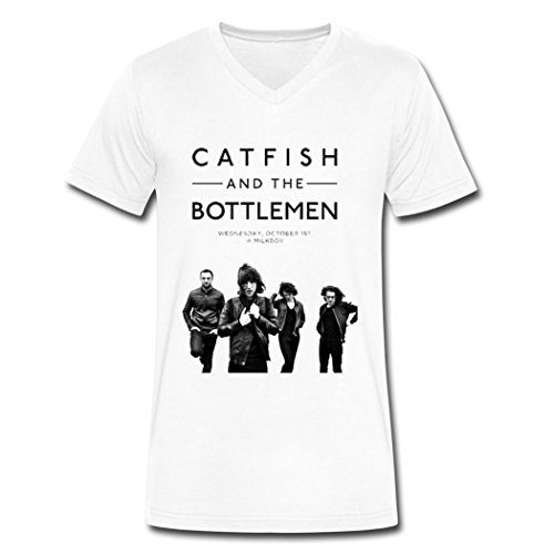 DIY Catfish and the Bottlemen poster tee shirt for men White