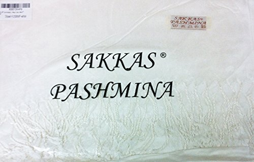"78 x 28"" Eco-Friendly Bamboo Rayon Soft Solid Pashmina Shawl / Wrap / Stole - White"""