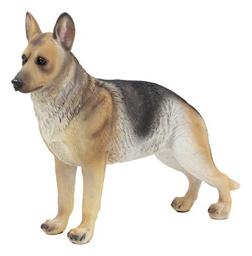 Ebros Lifelike Realistic German Shepherd Dog Statue with Glass Eyes 8.25