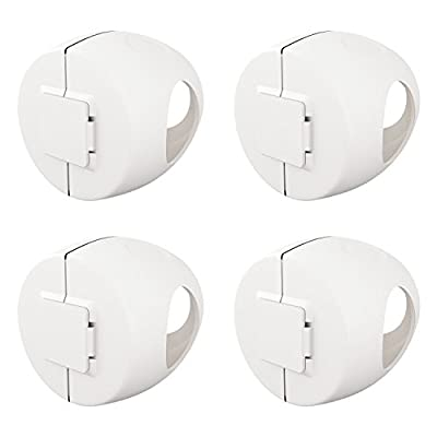 Door Knob Cover - 4 Pack - Child Proof Doors - Child Safety Covers by Bassion