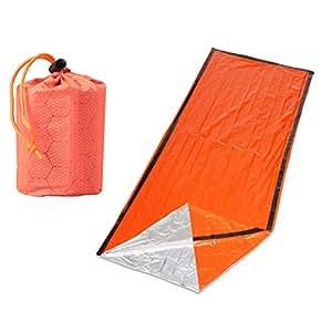 LIOOBO Saco de Dormir de Emergencia portátil, Bolsas de Mantas de Supervivencia para Acampar,