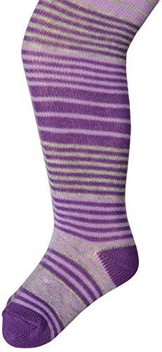 Jefferies Socks Baby Girls' Cotton Stripe Tights, Purple, 18 24 Months