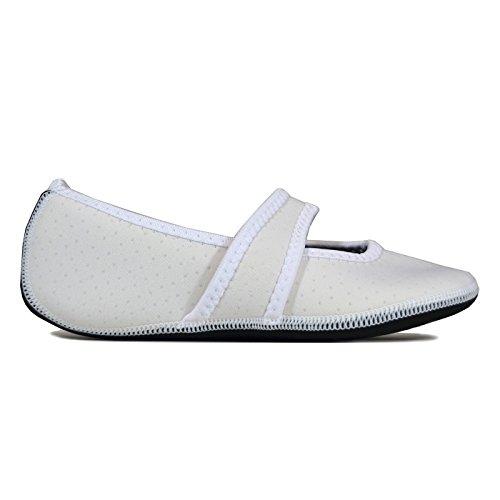 Betsy Yoga Slippers amp; Travel Flats Shoes Dance Slipper Shoes Large Slippers Best Shoes Nufoot Women's amp; Socks X Lou Exercise Shoes White Indoor Flexible Socks House Foldable Udxqp
