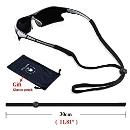 5 Pack Sports Eyeglasses Holder Strap Sunglasses Lanyard Cotton Neck Cord Retainer of Mini Tree