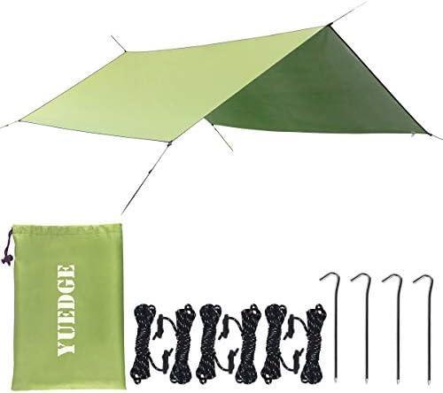 YUEDGE Easy Set Up Portable Waterproof Camping Tarp Shelter Sunshade Rain Tarp Tent Tarp Hammock Tarp Rain Fly