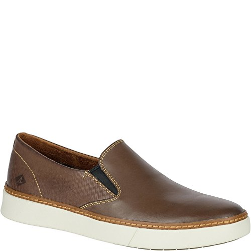 Gore Loafers (Sperry Top-Sider Men's Clipper Twin Gore Slip-On Loafer, Brown, 13 M US)
