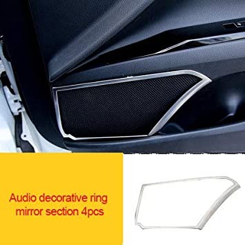 1x  stainless Interior Rearview Mirror frame Cover Trim  For Toyota Camry 2018