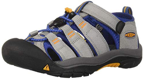 KEEN Unisex Newport H2 Water Shoe, paloma/Galaxy Blue, 5 M US Big Kid (For Sandals Keen Kids)