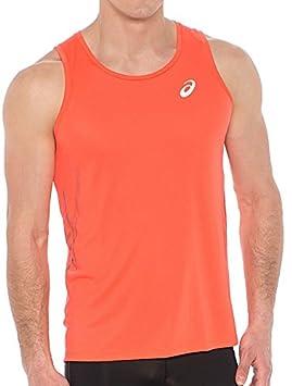 22e9cf51ff ASICS Speed Mens Running Singlet - Orange-L: Amazon.co.uk: Sports ...