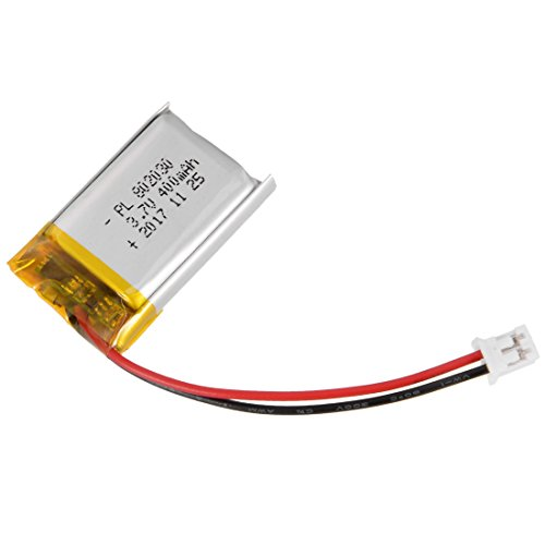 uxcell Power Supply DC 3.7V 400mAh 802030 Li-ion Rechargeable Lithium Polymer Li-Po Battery