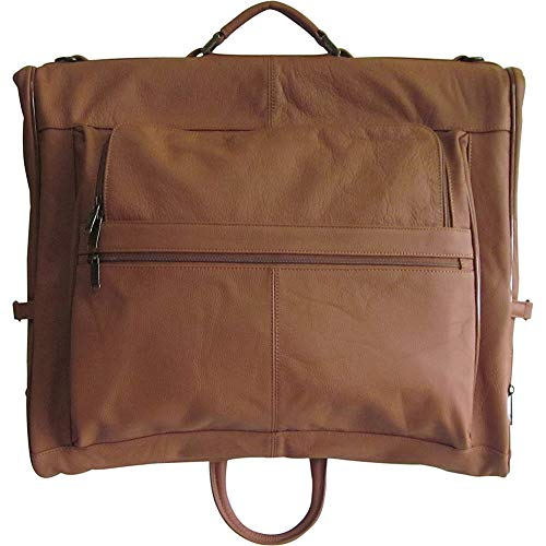 Amerileather Leather Three-Suit Garment Bag,Brown,US
