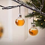 Gbell Christmas Tree Ornaments Booze Filled Bottle Ball - Clear Booze Water Milk Juice Ball Bulbs Cup Drink Ball Decorations for Bar Home House Kitchen Party Supplies Decor,1/6 Pack