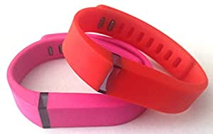 Large 1pc Real Red 1pc Pink Band for Fitbit FLEX Only With Clasps Replacement /No tracker/