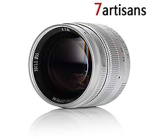 7artisans 50mm F1.1 Fixed Lens for Leica M Mount Cameras Like Leica M4P M6 M7 M8 M9 M9p M10 M240 M240P Me M262 M-M - silver