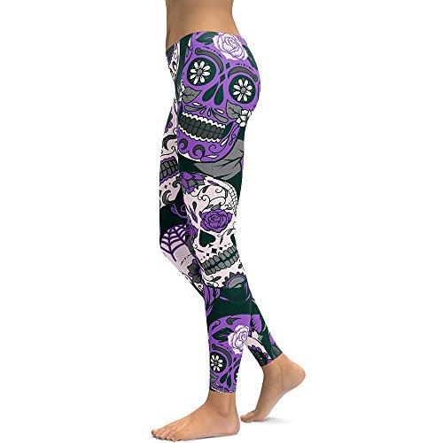 Pantalon de Yoga Pour Femme, Vovotrade Les Femmes De Taille Haute Gym Yoga En Cours Dexécution Fitness Leggings Pantalons Workout Vêtements (Violet, Taille: S)
