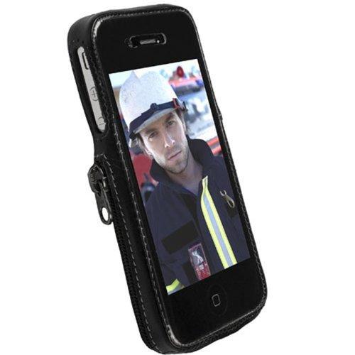 Krusell Classic Case / Classic Handytasche / Schutzhülle für iPone 4 - Schwarz