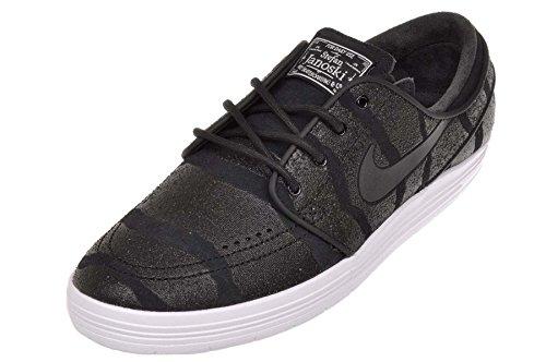 Nike Lunar Stefan Janoski Mens Skateboarding-shoes 654857 Nero
