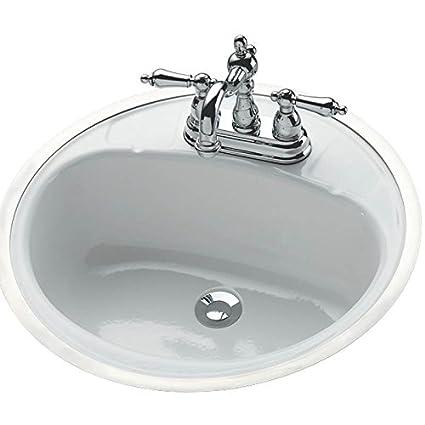 Beau Bootz Industries 021 2430 00 Flat Rim Lavatory Sink, Round, White,