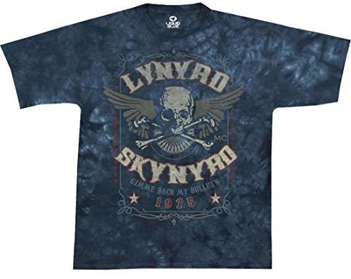 - Liquid Blue Men's Lynyrd Skynyrd Gimme Back My Bullets Short Sleeve T-Shirt,Blue,X-Large