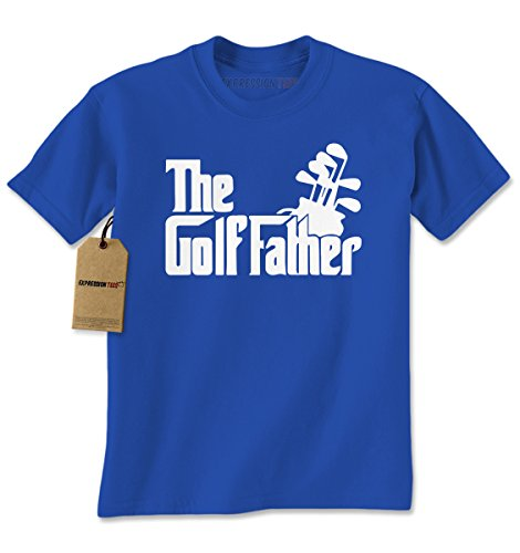 Expression Tees Mens The Golf Father T-Shirt XX-Large Royal (Father Golf Shirt)